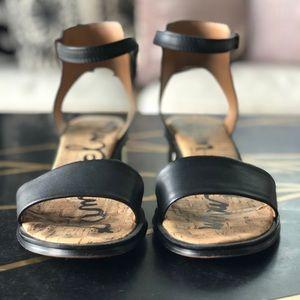 Sam Edelman Shoes - Sam Edelman, Teri, Low Heel Strap Sandal Blk 8.5